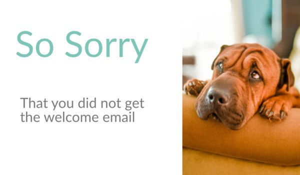 email so sorry